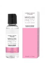 Mixgliss silicone - Fleur de cerisier - 50ml - Fluide 2 en 1 massage et lubrifiant riche en silicone, parfum fleur de cerisier.