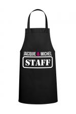 Tablier J&M - STAFF - Tablier Jacquie & Michel  STAFF  pour pimenter vos réceptions entre amis.