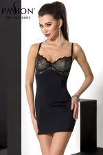 Combinaison Floris - Robe sexy d'intérieur, ou combinaison de charme à porter sous une robe, le 2 en 1 au top de la lingerie féminine.