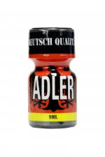 Poppers Adler 9 ml - Flacon de 9 ml de Poppers Adler, arôme liquide érotique à base de Nitrite de Penthyl (le plus fort).