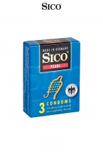 3 préservatifs Sico PEARL - 3 préservatifs haute qualité avec texture perlée pour une stimulation sexuelle maximale de votre partenaire.