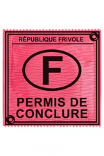 Préservatif humour - Permis De Conclure - Préservatif  Permis De Conclure , un préservatif personnalisé humoristique de qualité, fabriqué en France, marque Callvin.